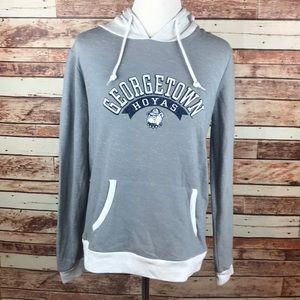 Georgetown Hoyas Medium Gray Hoodie Sweatshirt
